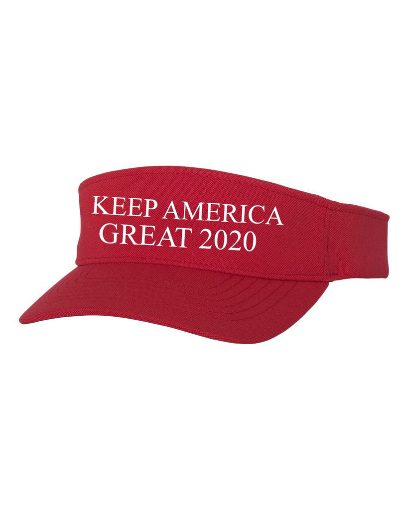 Keep America Great 2020 Red Visor