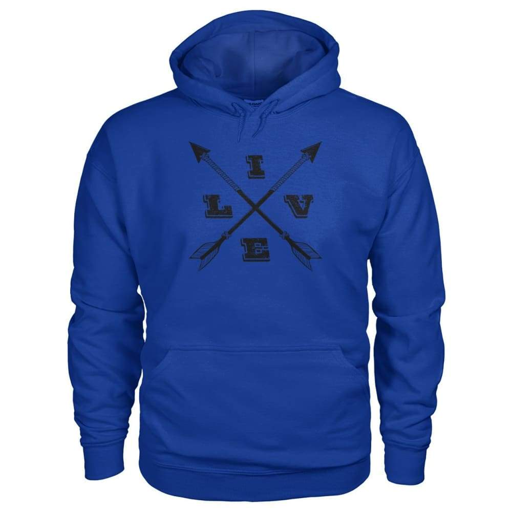 Live Arrows Design Hoodie - Royal / S - Hoodies