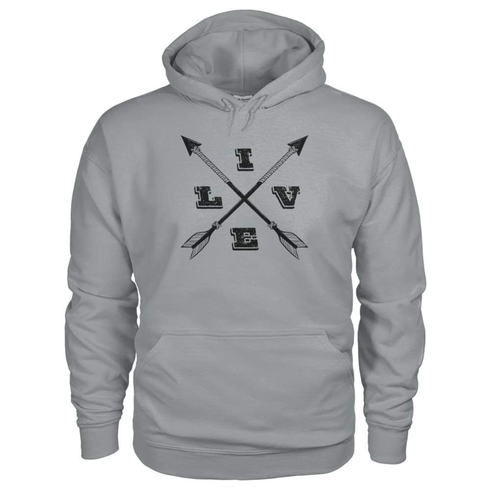 Live Arrows Design Hoodie - Sport Grey / S - Hoodies