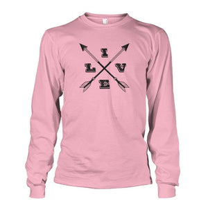 Live Arrows Design Long Sleeve - Light Pink / S - Long Sleeves