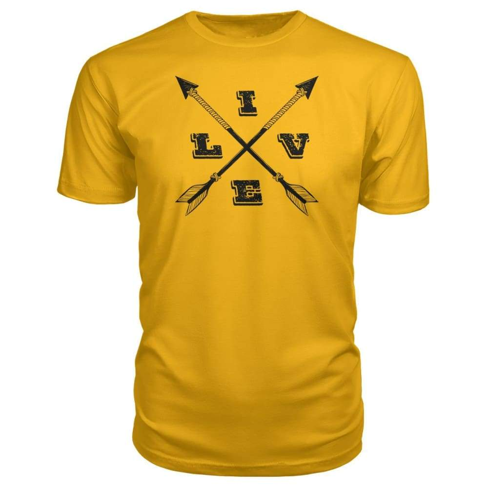 Live Arrows Design Premium Tee - Gold / S - Short Sleeves