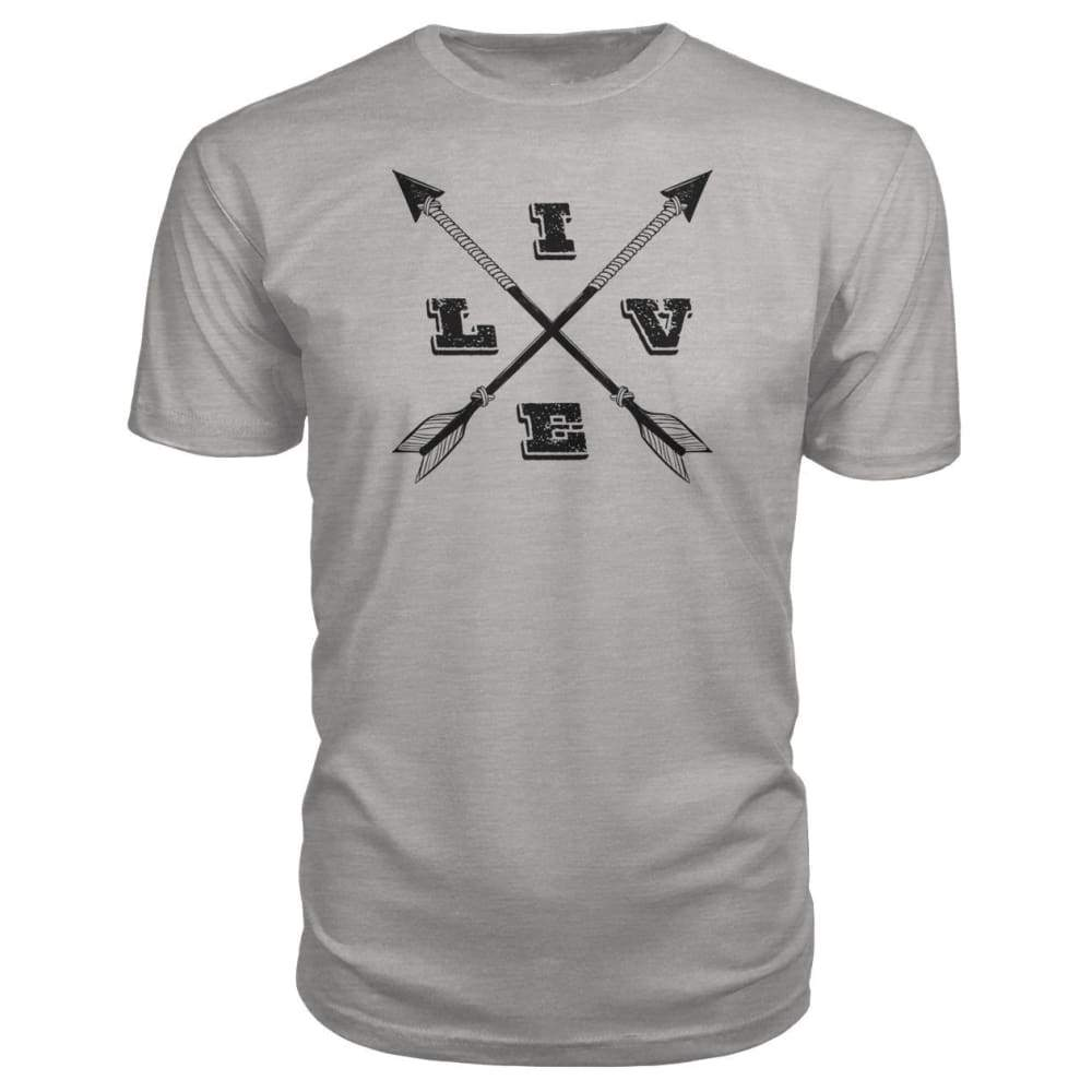 Live Arrows Design Premium Tee - Heather Grey / S - Short Sleeves
