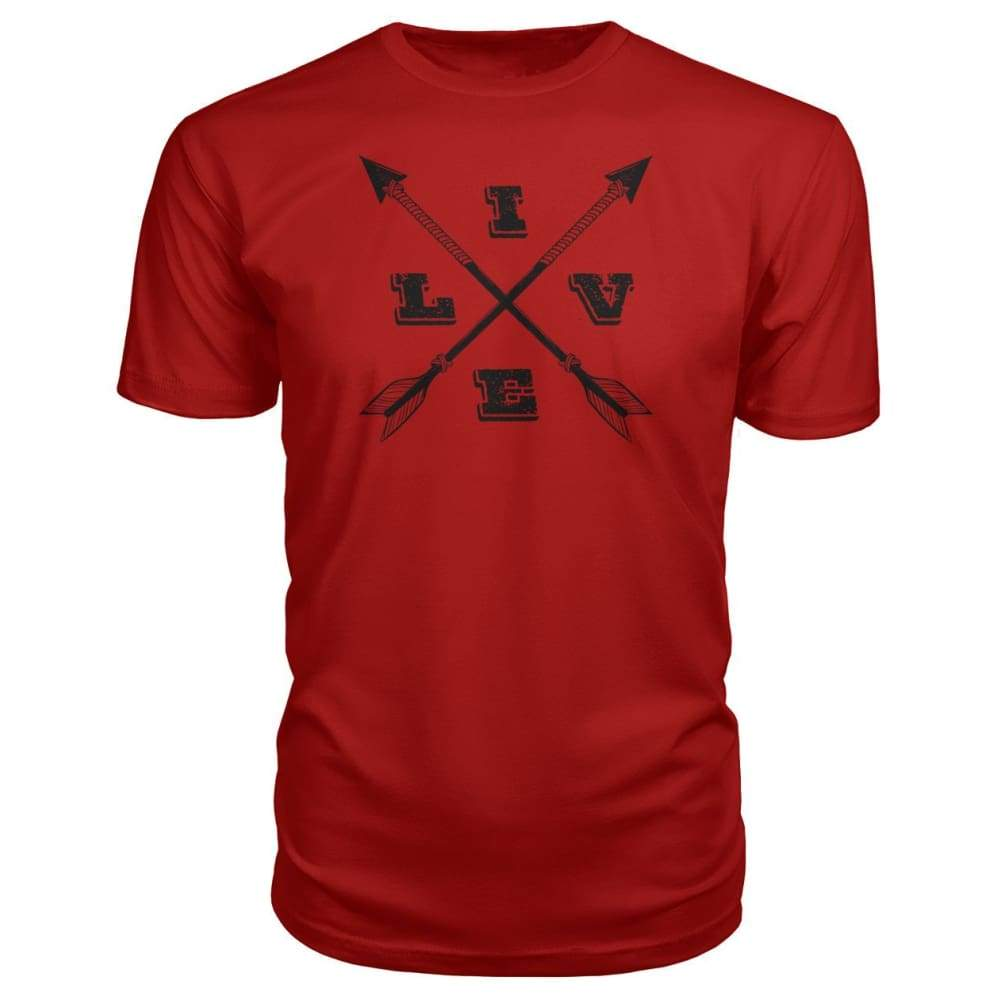Live Arrows Design Premium Tee - Red / S - Short Sleeves
