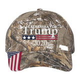 Nebraska For Trump 2020 Hat (Choose Your Color)