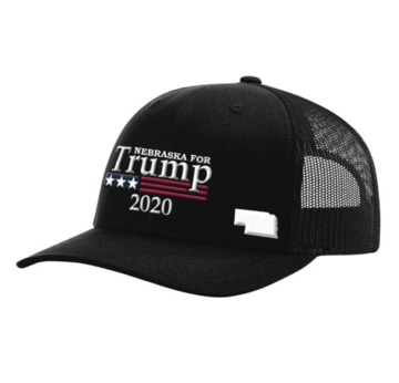"Custom ""Nebraska"" For Trump Hat (All Black)"