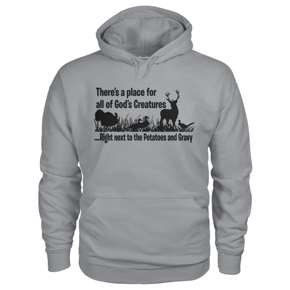 Theres A Place For All Of Gods Creatures Hoodie - Sport Grey / S - Hoodies