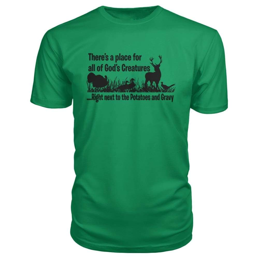 Theres A Place For All Of Gods Creatures Premium Tee - Green Apple / S - Short Sleeves