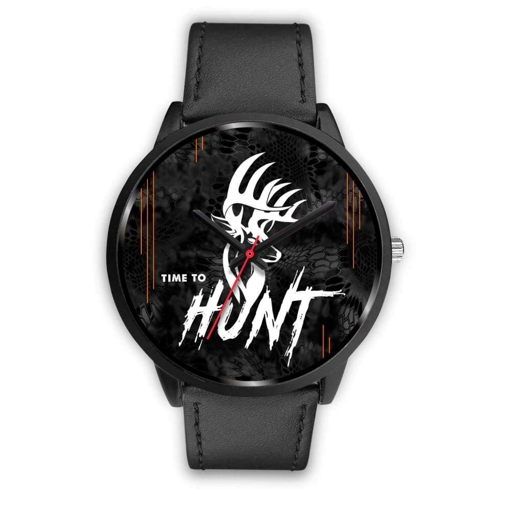 Time To Hunt - Kryptek Typhon Camo Watch - Mens 40mm / Black Leather - Black Watch