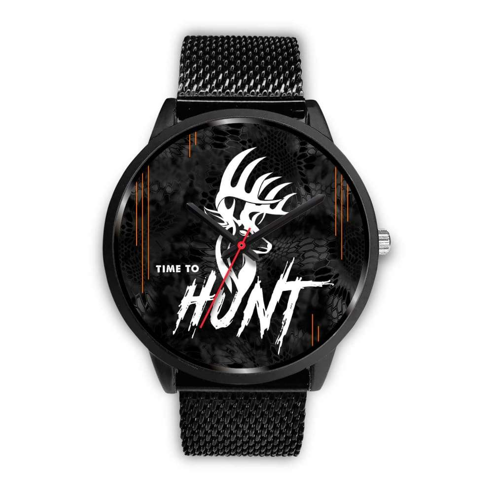 Time To Hunt - Kryptek Typhon Camo Watch - Mens 40mm / Black Metal Mesh - Black Watch