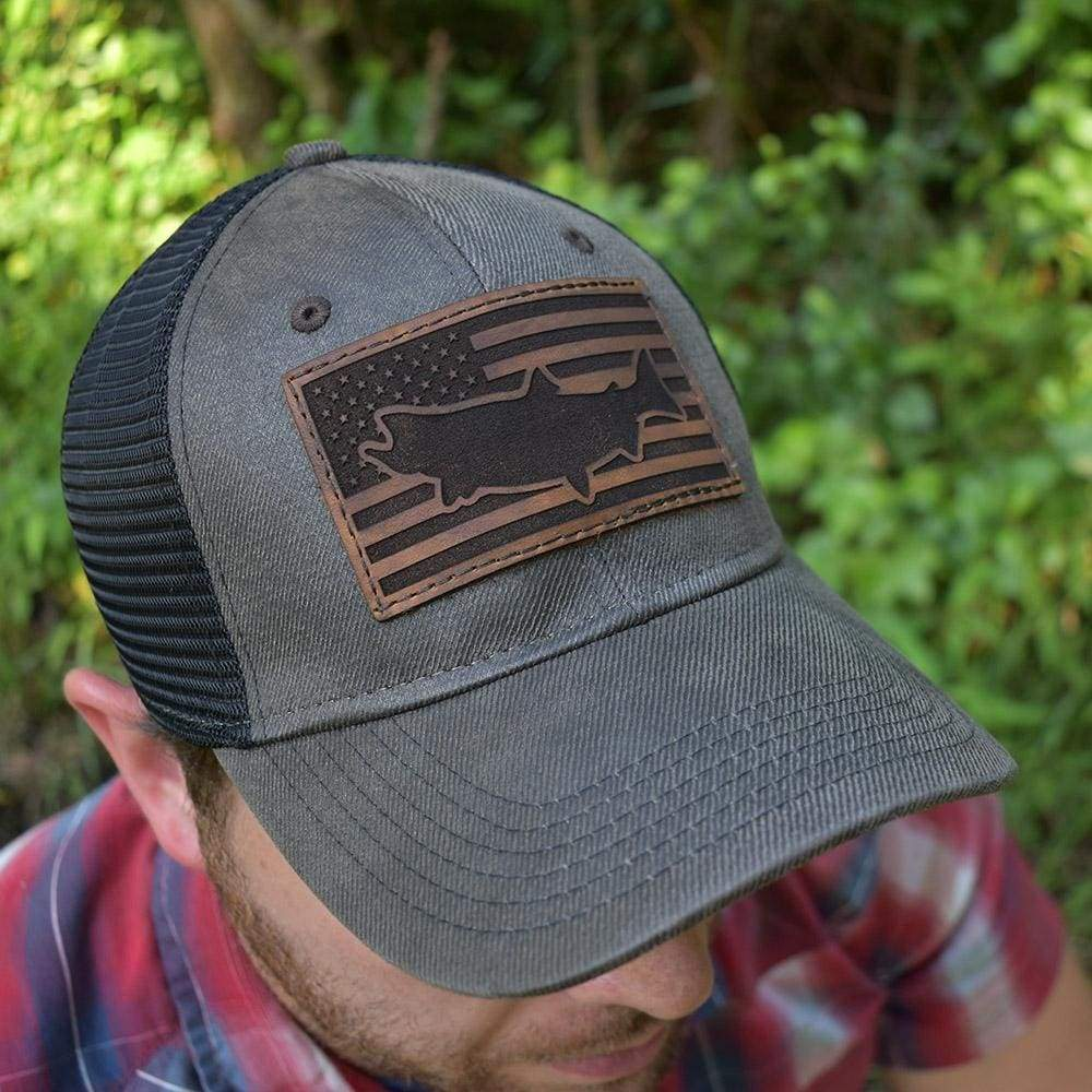 Trout Flag Hat - Dark Brown / Black - Hat