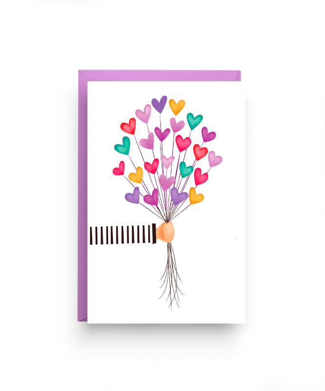 Heart Balloons - Love Card for a Mother or Friend