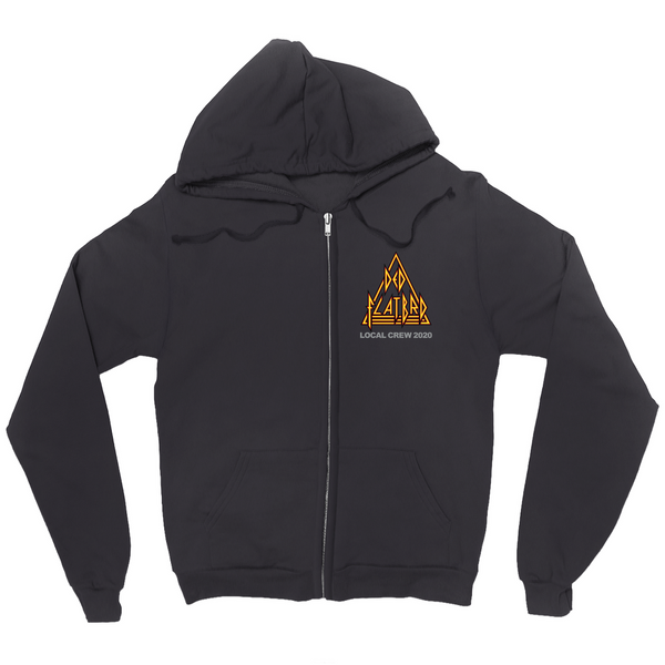Ded FlatBrd Crew 2020 Black Zip Up Hoodie