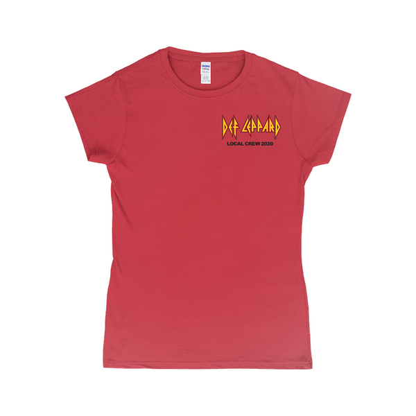 Def Leppard Crew 2020 Women's Red T-Shirt
