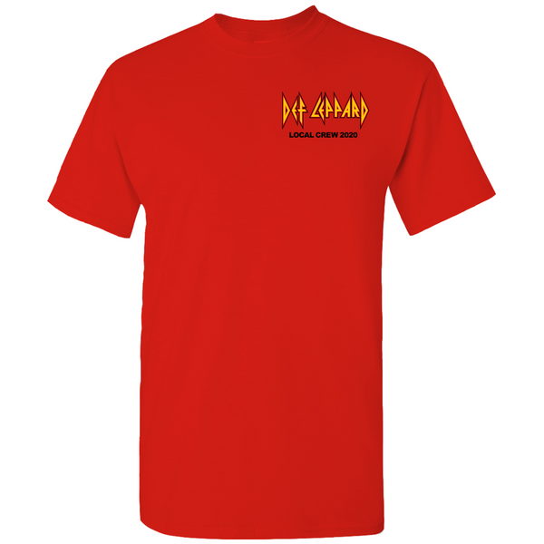 Def Leppard Crew 2020 Red T-Shirt