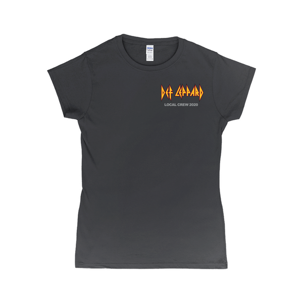 Def Leppard Crew 2020 Women's Black T-Shirt