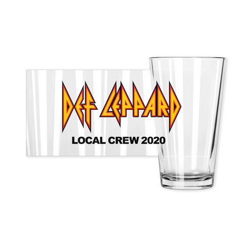 Def Leppard Crew 2020 Pint Glass