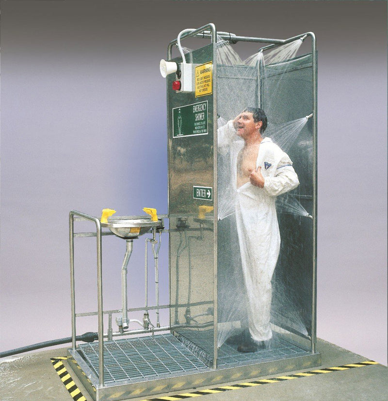 Safety Shower Modesty Screens and Worksite Protection