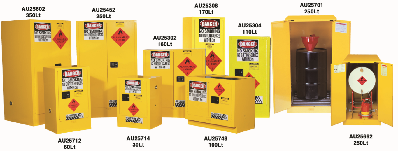 Justrite Flammable Cabinets with 10 Year warranty