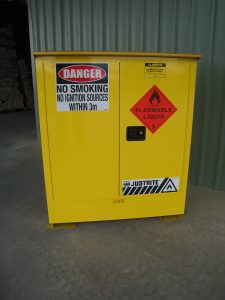 Justrite Flammable Cabinet Weather proof option 160L Front View