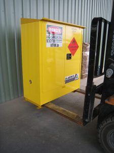 Justrite Flammable Cabinet Weather proof option 160L Forklift Tynes