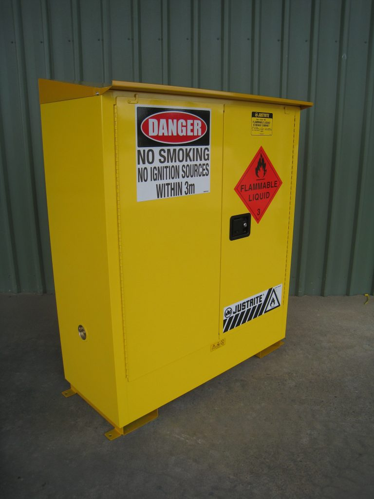 Justrite Flammable Cabinet Weather proof option 160L