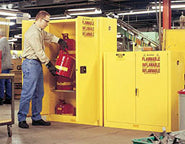 Safely store small quantities of Flammable and Corrosive goods.