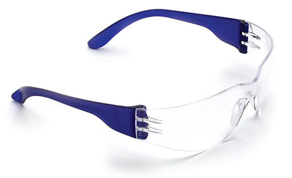 Clear medium impact safety glasses