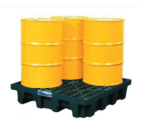 4 Drum Square Spill Pallet Polyethylene Low Profile