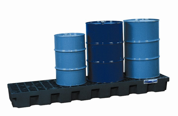 4 Drum Spill Pallet In-Line Polyethylene Low Profile