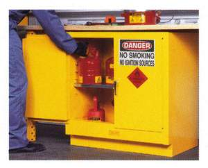 100 Litre Flammable Goods Storage Cabinet - Under Bench/Tray Top