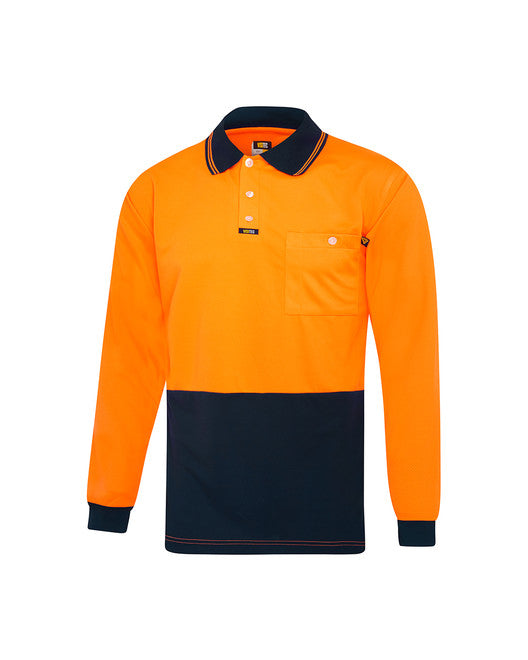Visitec 'Original' Microfibre Polo Shirt Long Sleeve
