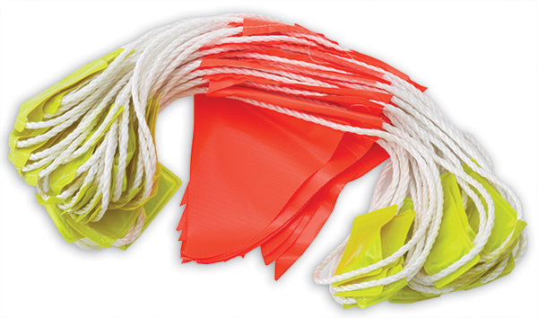 Orange PVC Bunting flags 30 m Day Night