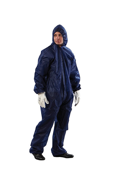 Blue Polypropylene Disposable overalls