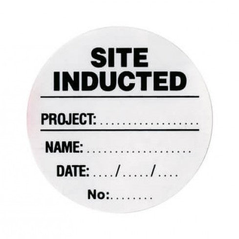Hard Hat Induction Stickers - Pack 50