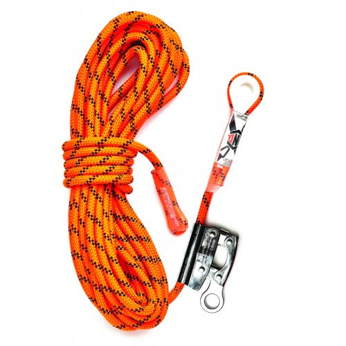 Kernmantle Rope 15m with Thimble Eye & Rope Grab