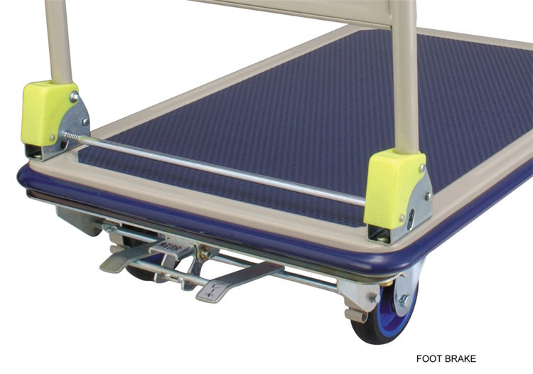 Prestar Flatbed 150kg Trolley complete with Brake Kit