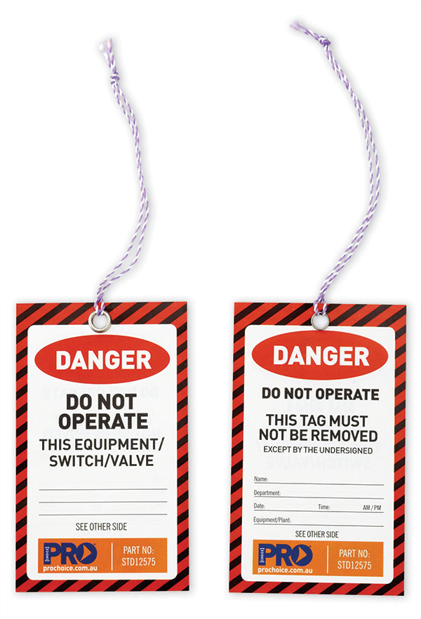 Safety Tags - Red Danger