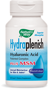 Hydraplenish® Hyaluronic Acid Plus MSM, 60 vcaps