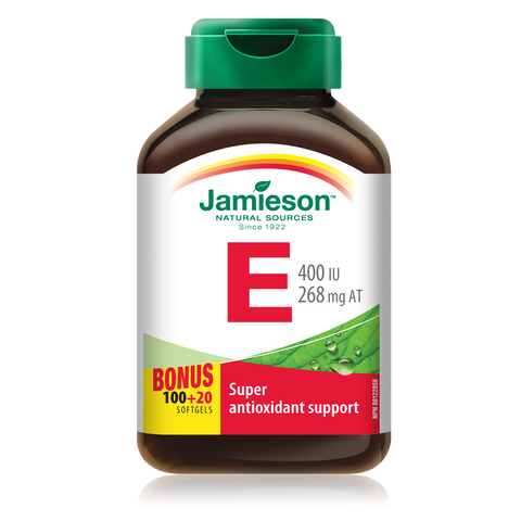 Jamieson Vitamin E 400 IU, 120 softgels