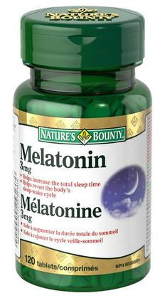 NATURE'S BOUNTY MELATONIN 3MG TABS 120'S