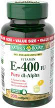 NATURE'S BOUNTY E 400IU SYN VALUE 200'S