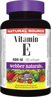 Vitamin E, Natural Source, 400 IU, 90 softgels