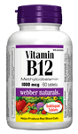 Vitamin B12, Methylcobalamin, 1000 mcg, 60 sublingual tablets
