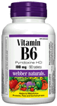 Vitamin B6, (Pyridoxine HCI), 100 mg, 90 tablets
