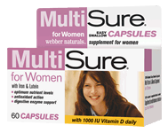 MultiSure for Women, Easy Swallow Multivitamin, 60 capsules