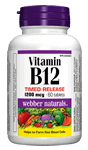 Vitamin B12, Timed Release, 1200 mcg, 60 tablets
