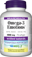 Omega-3 Emotions, (EPA 500, DHA 70), 75 softgels