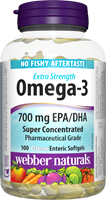 Extra Strength Omega-3, 700 EPA/DHA, 100 clear enteric softgels