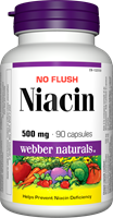 No Flush Niacin, Vitamin B3, 500 mg, 90 capsules