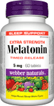 Melatonin Timed Release, Extra Strenth, 5 mg, 60 tablets